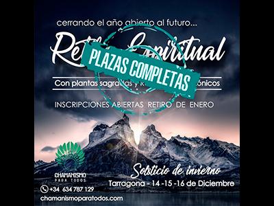 Completo el Retiro Espiritual Solsticio de Invierno 2018